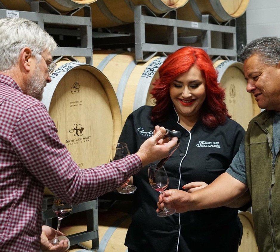 CHef Cladia Sandoval, South Coast Winery, Temecula California
