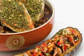 Walnut Suneli Spiced Natural Chicken Breast, Chef Bernard Guillas, French Cooking, Recipe, slide