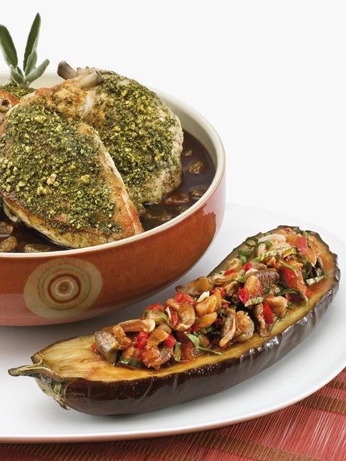 Walnut Suneli Spiced Natural Chicken Breast, Chef Bernard Guillas, French Cooking, Recipe, slide