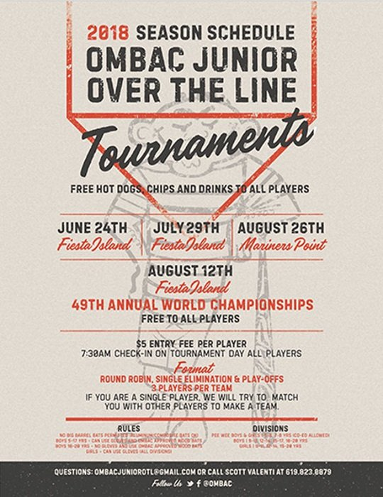 Old Mission Beach Athletic Club to Host Junior Over-the-Line Tournament