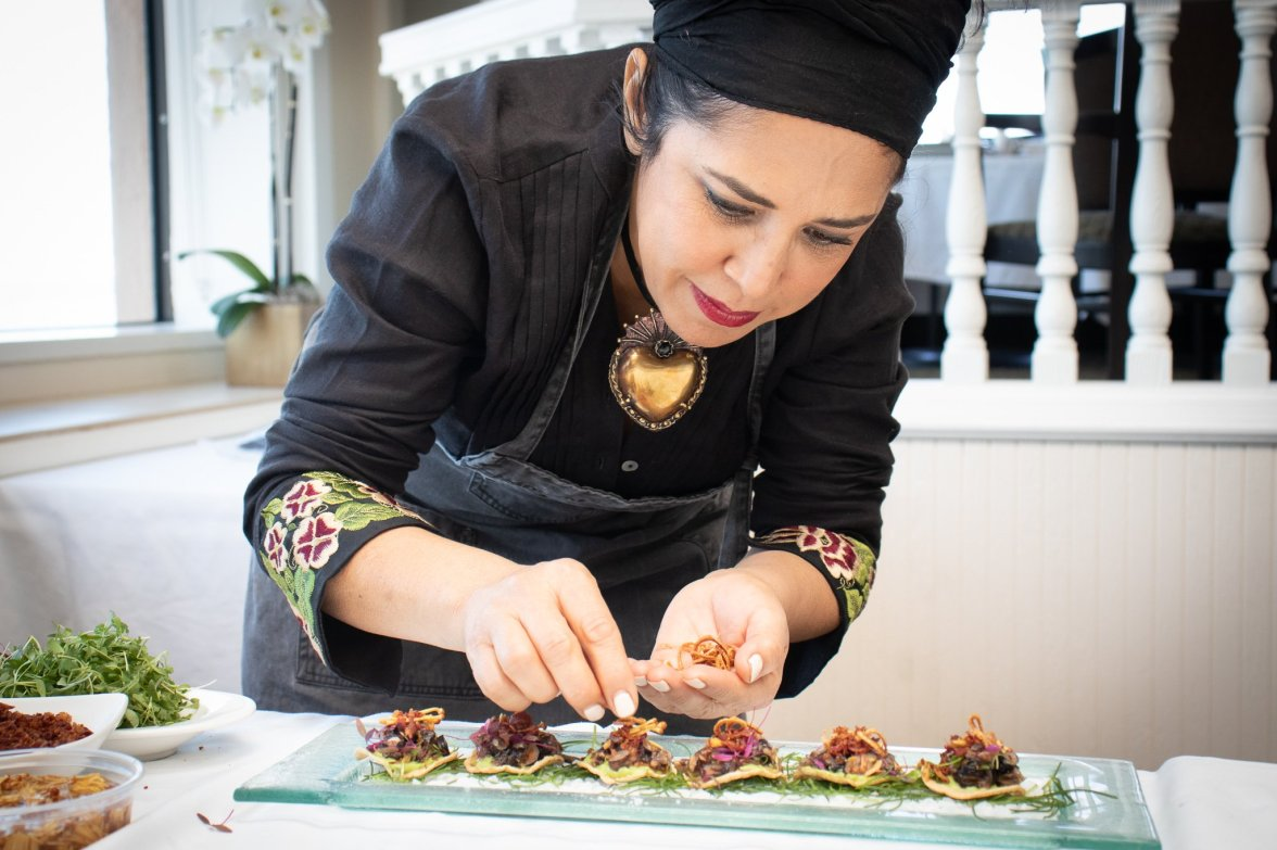 The talented and beautiful Chef Flor Franco