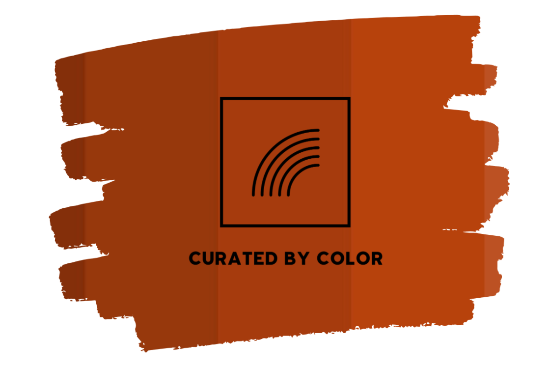 Curated by color trend rust orange rusty red