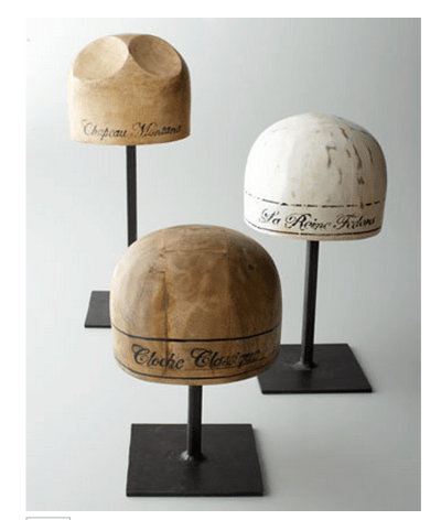 Wooden Hat Molds Made From Vintage Felt