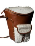 Chic Leather Camera Bag