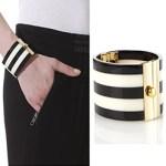 Modern Malene Birger Cuff Striped Bracelet Black & White £80 FREE GLOBAL SHIPPING