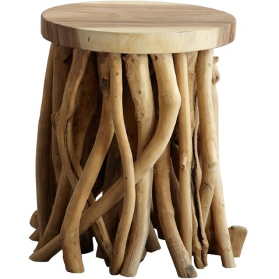 Modern Eclectic Wooden Twisted Root Side Table