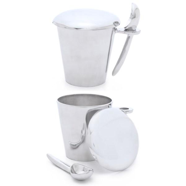 Silver Lunares Ice Cream Pint Holder Scoop