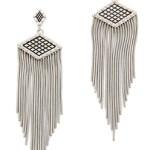 Rebecca Minkoff Great Gatsby Inspired Silver Earrings $98 FREE WORLDWIDE SHIPPING