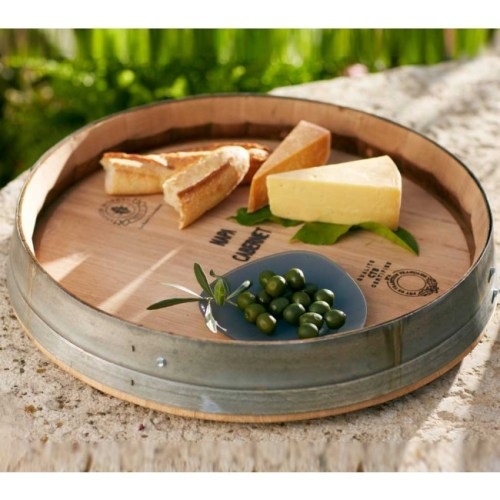 Wine Country Chic Wine Barrel Lazy Susan