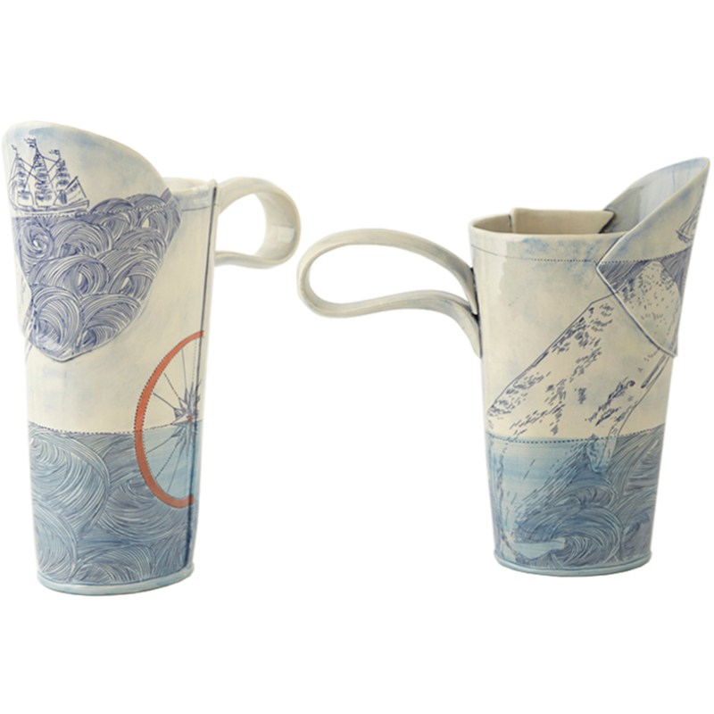 Linda Fahey Japanese Inspired Porcelain Water Pitcher