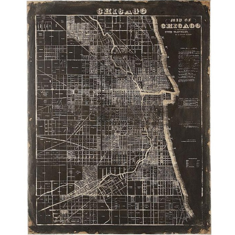 Map Of Chicago Wall Art