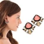 Colored Swarovski Crystal Erickson Beamon Earrings FREE WORLDWIDE SHIPPING