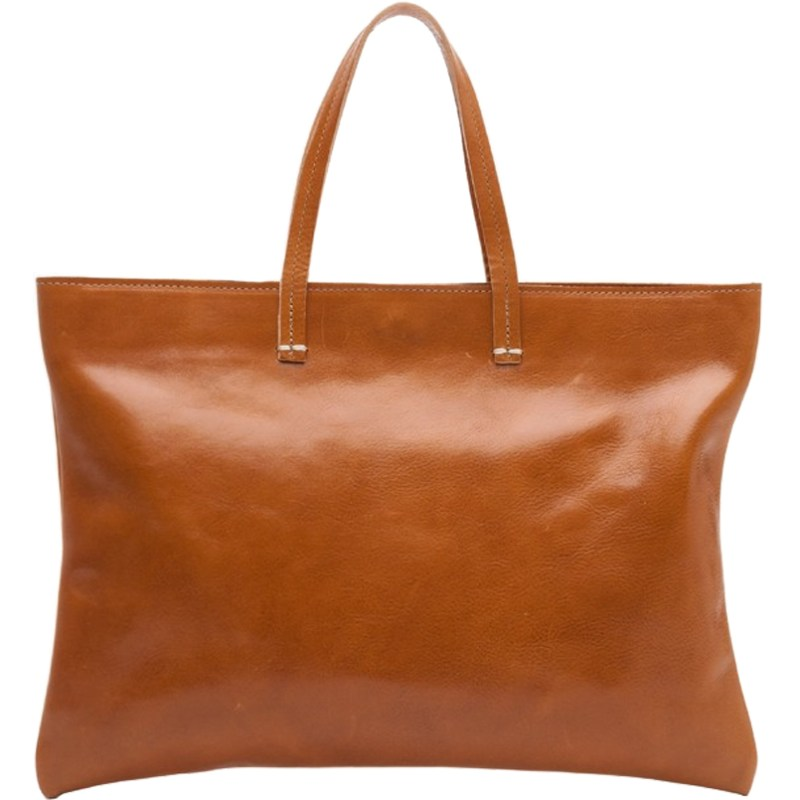 Large Brown Leather Messenger Bag