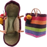Fair Trade Bags Bright Hand Woven Straw Baskets $94 FREE WORLDWIDE SHIPPING