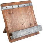 Stacy Borocz Reclaimed Wood Cookbook Stand
