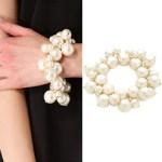 Kenneth Jay Lane Jewelry Faux Pearl Cluster Bracelet Review FREE WORLDWIDE SHIPPING