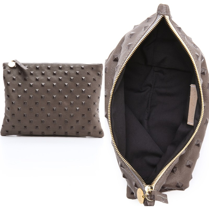 Clare Vivier Clutch Review Leather Studded Clutch Bag