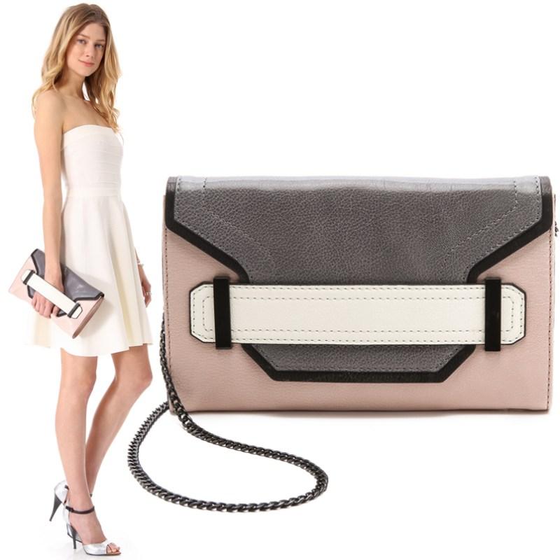 Unique Colorblock Milly Clutch Bag