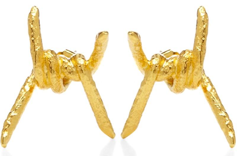 Modern Gold Stud Earrings