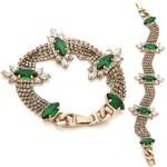 Noir Jewelry Emerald Green Crystal Bracelet FREE WORLDWIDE SHIPPING