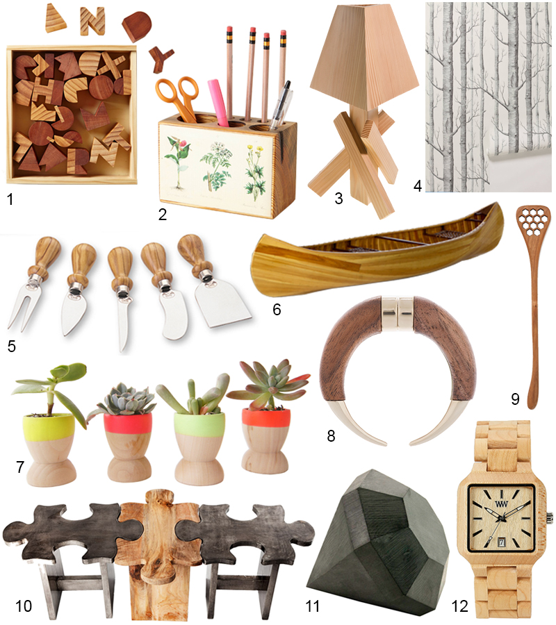 Unique & Modern Wooden Accessories That Are Chic