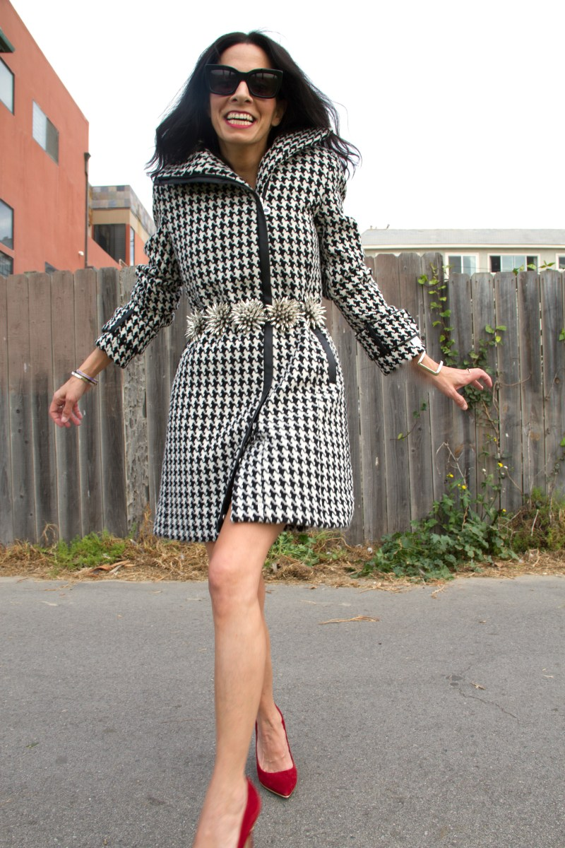 I Always Miss My Mother At Christmas - Houndstooth Coat