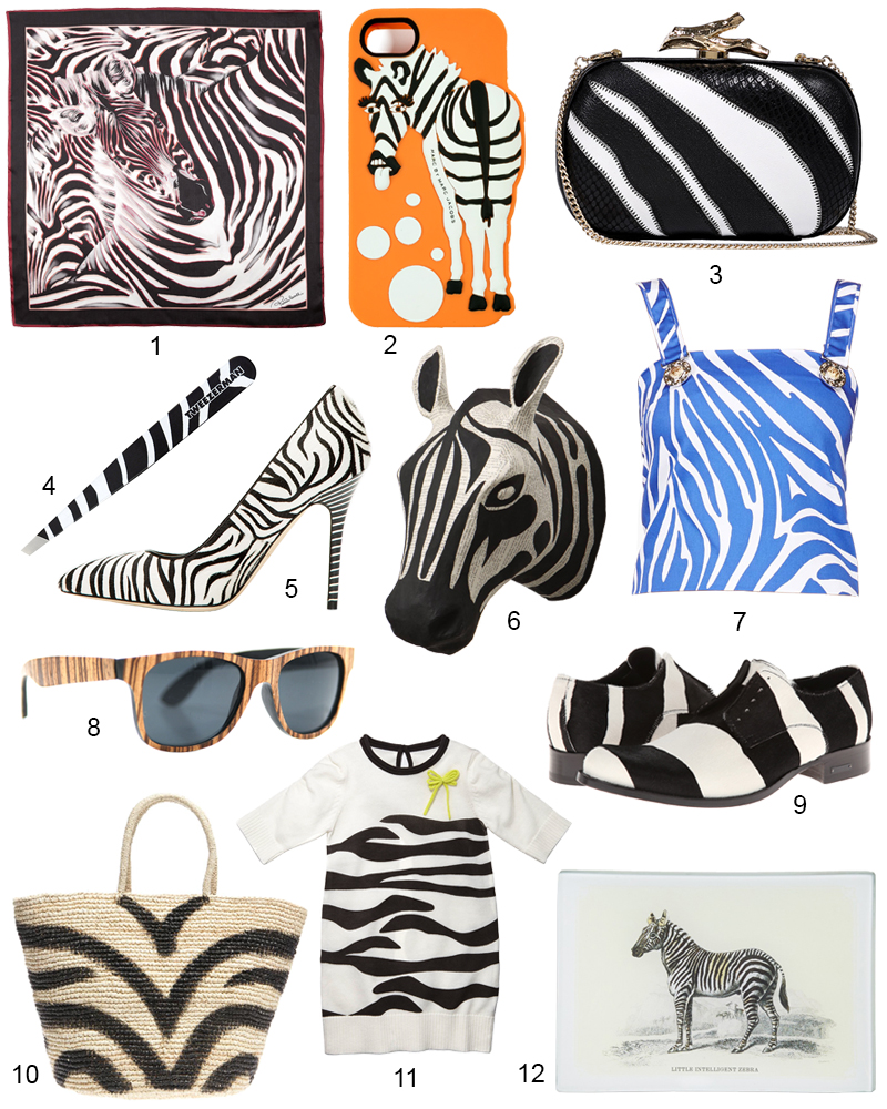 The Hit List - 12 On Trend Zebra Print Accessories Right Now
