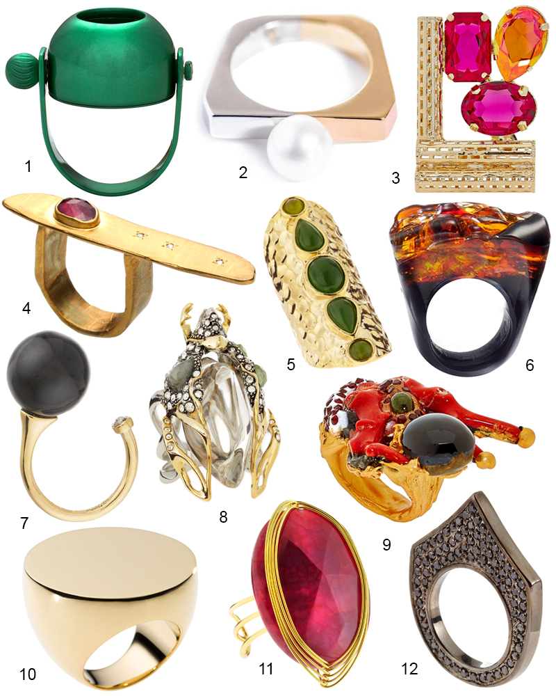 The Hit List - 12 Gorgeous  Trendy Cocktail Rings