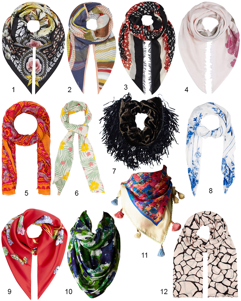 The Hit List - 12 Best Summer Scarves Right Now