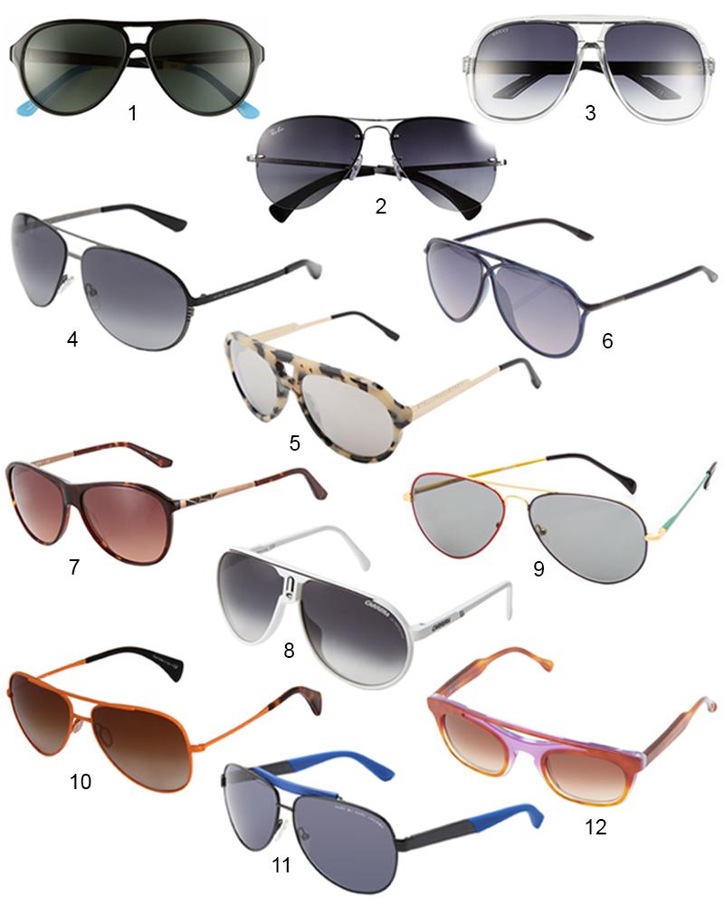 The Hit List - The Hottest 12 Designer Aviator Sunglasses For Women