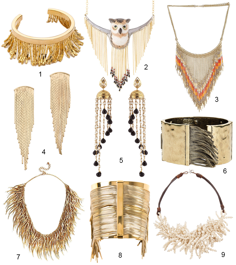The Hit List - 9 Stunning Gold Fringe Jewelry Pieces