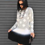 Cool Tone Style In Polka Dot Gray & Blue