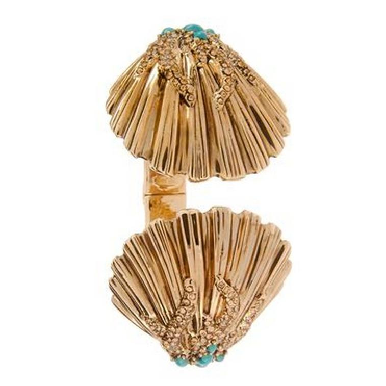 Roberto Cavalli Gold Shell Bracelet