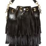 Putting The Saint In Laurent – Black Leather Fringe Bag