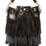Putting The Saint In Laurent – Black Leather Fringe Bag