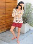 Prints and Patterns - DVF Blouse - Parker Skirt