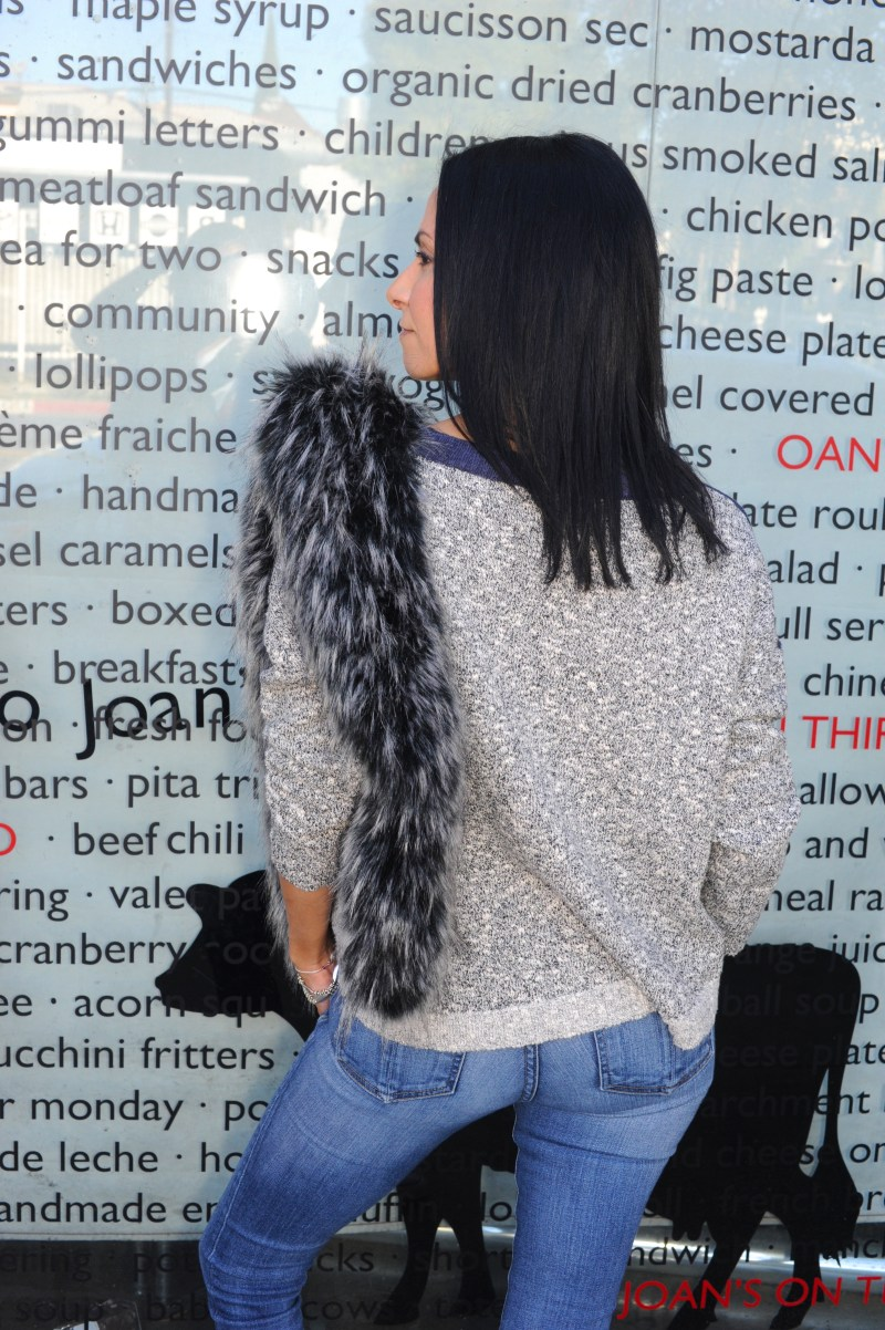 First Day Of Cool - Townsen Sweater - Faux Fur Stole