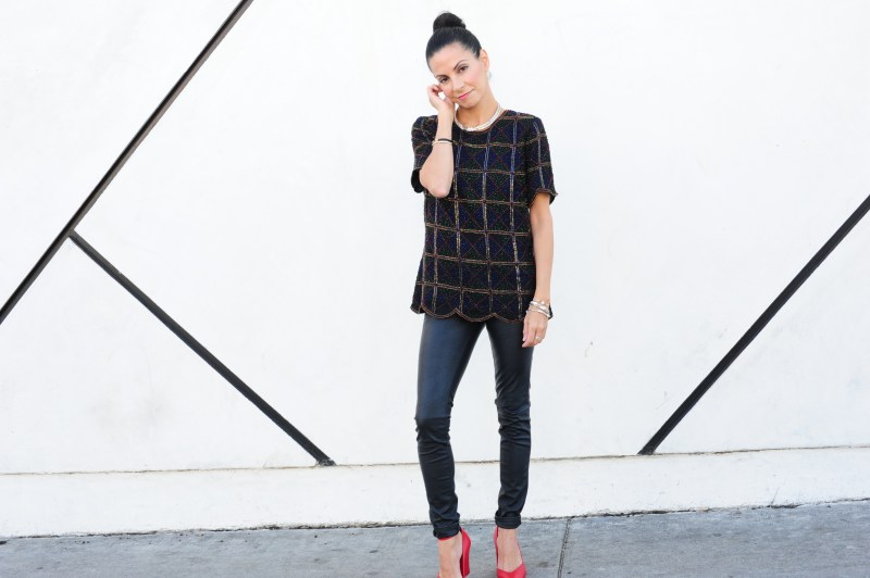 Holiday Party Outfits - Vintage Beaded Top