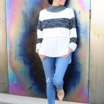 Styling A Crop Top Sweater – A Transitional Outfit In Blue
