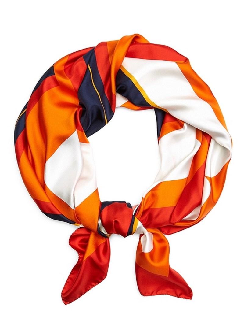 Orange Silk Scarf Brooks Brothers Vinatge