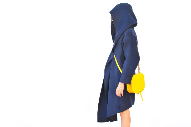Girl In Blue Venia Collection Coat