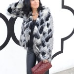 Bring The 70's Back In A Black And White Faux Fur Coat