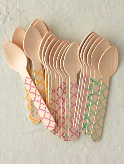 wood spoons colorful diamond birch wood spoons