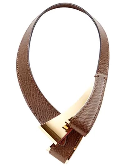 Marni Brown Leather Necklace