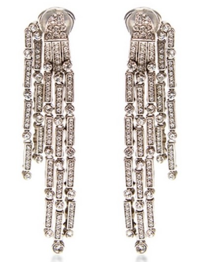 Oscar De La Renta Drop Crystal Earrings