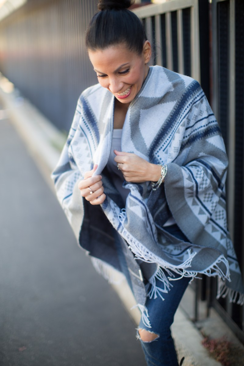 Superdry Cape In Blue