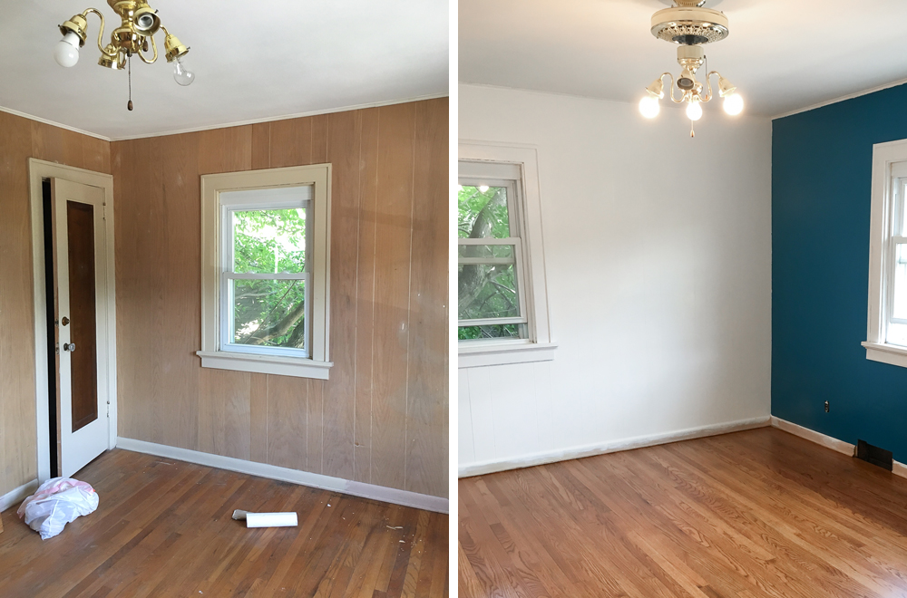 painting interior wood paneling