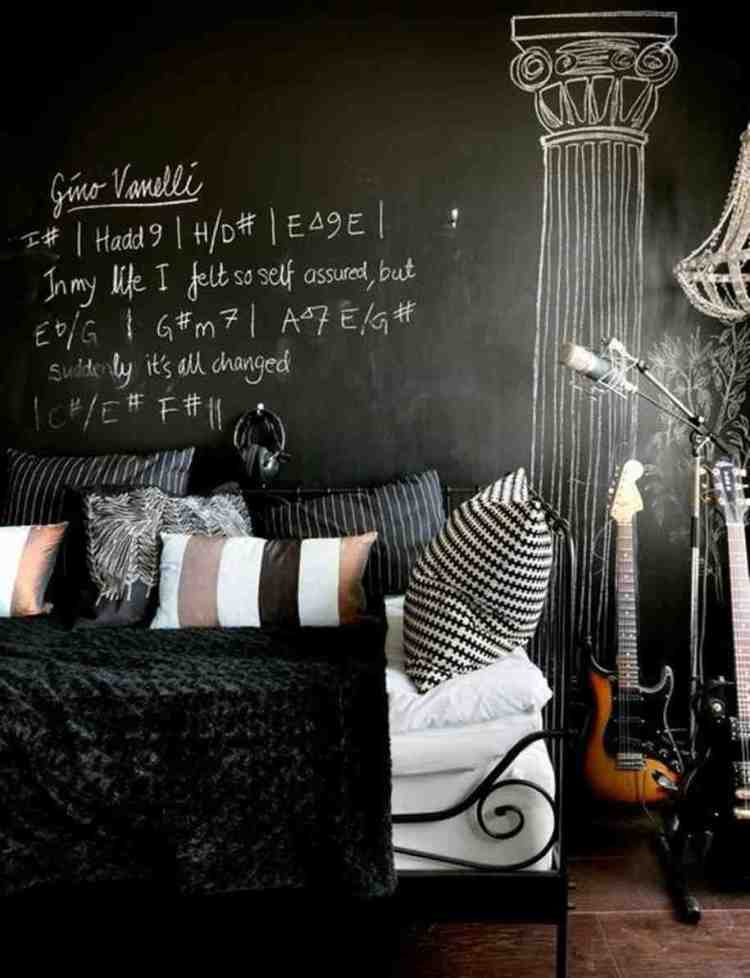 28 Ideas For Black Wall Interiors How To Style Them
