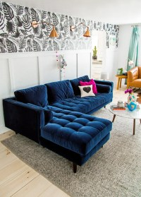 Tufted Blue Sofa Perfect Navy Blue Tufted Sofa 35 On