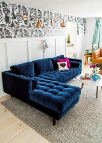 Tufted Blue Sofa Perfect Navy Blue Tufted Sofa 35 On ...